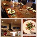 Heerlijk eten in het restaurant onder leiding van Stefan