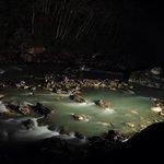 night view of bhote kosi river
