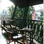 enjoy sunlight here, the balcony!