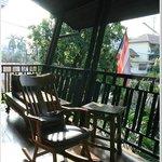 enjoy sunlight here, the balcony!
