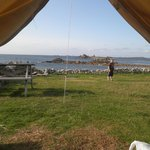 Our view from the Bell tent