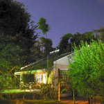 Our own lodge (by night)