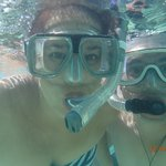 Snorkelling right in front of the villa's