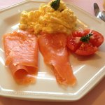 Delicious Smoked Salmon and Scrambled Eggs - YUM