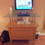TV unit with kettle tray