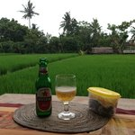 `Happy hours' beer and snack at my terrace