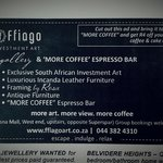 Show this ad and receive R4 off your next delicious coffee and cake