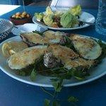huitres gratinees