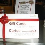 We have gift cards!