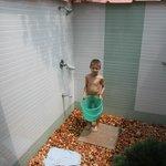 Outdoor bathroom - great idea!