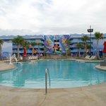 Pool area near Ariel building