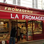 Great place on Rue Cler in the market area