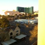 view from room. MGM grand, Mandalay bay