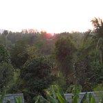 sun setting at hotel