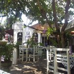 Cafe in front of guesthouse