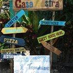 Sign on the street outside Casa Nostra