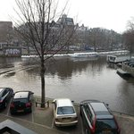 View of canal from window