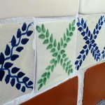 These beautiful tiles were everywhere in this hotel!