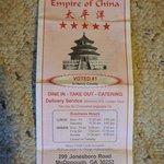 Foto van Empire of Chinia
