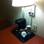 Cafetera en la habitacion