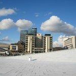 Blick auf das Hotel vom Dach des Opernhauses aus