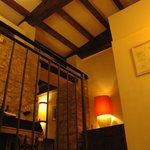 Vista dalla scalinata per accedere alla sala ristorante