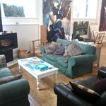 Comy Sofa's and Wood Burner