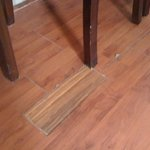 Patched up wood floor