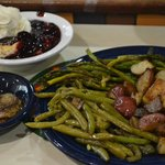 4 Veggies: Fried Green 'Maters, Grilled Asparagus, Green Beans & Mushrooms, Fr