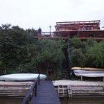 Hotelansicht vom Fluss aus
