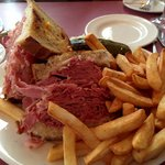 Reuben Sandwich, Fries and Slaw
