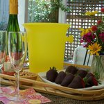 "Enjoy ""Bubbles & Berries"" on your private porch"