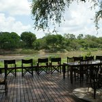 Viewing deck - hippos frequent river