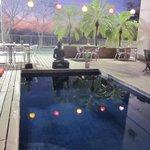 Pool Area next to smoothie bar