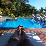 piscina com vista paradisíaca