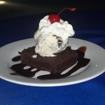 Awesome brownie sundae