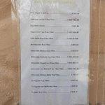 Liste des prix des cafés en mars 2013.