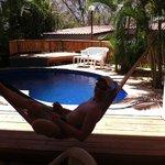 Hammocking poolside at Harry's