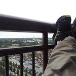 Kicking back on my balcony at the Contemporary looking at the Magic Kingdom.