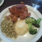 Fried Chicken, butter beans, creamed potatoes, broccoli!