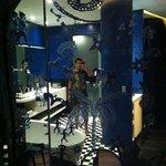 a mirror sliding door in Earth room