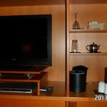 TV,coffee,tea in room