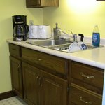 Kitchen with coffeemaker and quadruple toaster