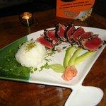 Black Sesamies Seared super fresh tuna!