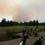Forest Fire over Black Butte Ranch Golf Course