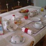 le petit déjeuner des chambres d'hôtes