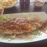 grilled fish for two persons