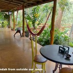 Verandah & deck immediately outside Verandah Room