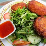 Flatwhite Thai Fish cakes with salad