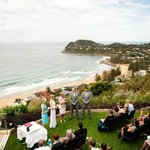 Wedding ceremony garden